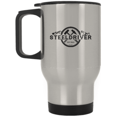 Steeldriver Silver Stainless Travel Mug
