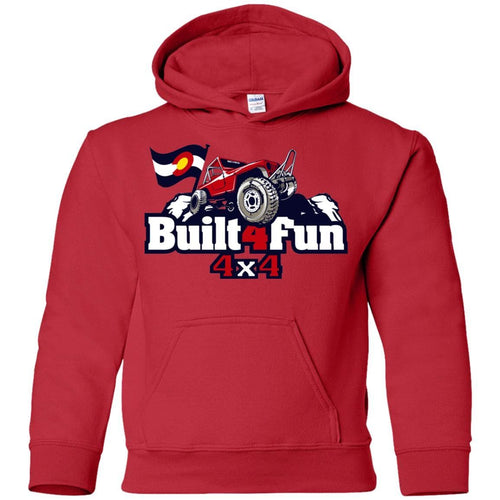 Built4Fun red G185B Gildan Youth Pullover Hoodie