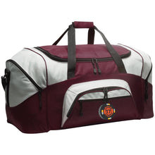 Black 17 embroidered BG99 Port & Co. Colorblock Sport Duffel