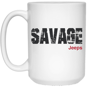 Savage Jeeps 21504 15 oz. White Mug
