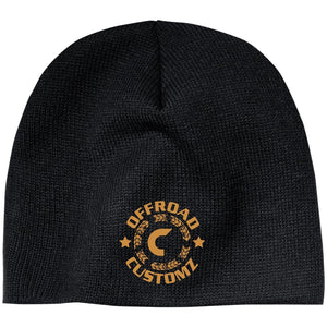 Offroad Customz gold embroidered logo CP91 100% Acrylic Beanie