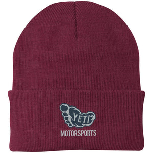 Yeti silver embroidered logo CP90 Port Authority Knit Cap