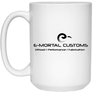 E-Mortal Dye Sublimation 21504 15 oz. White Mug
