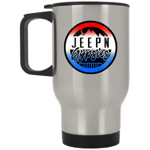 JeepNGypsies XP8400S Silver Stainless Travel Mug