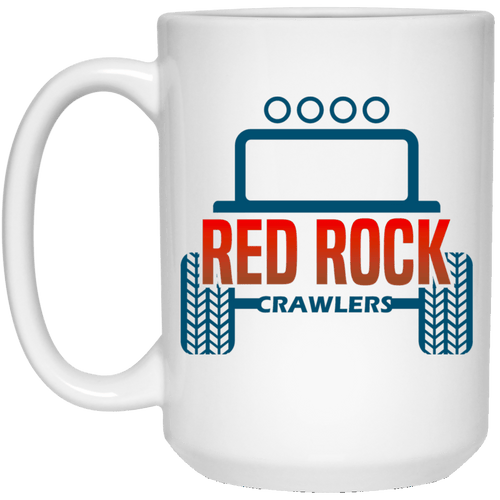 Red Rock Crawlers 21504 15 oz. White Mug
