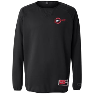 The Edge Automotive embroidered 9705 Rawlings® Flatback Mesh Fleece Pullover