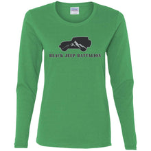 Black Jeep Battalion G540L Gildan Ladies' Cotton LS T-Shirt