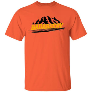 John's 4x4 BADASSERY Mountains 2-sided print G500 Gildan 5.3 oz. T-Shirt