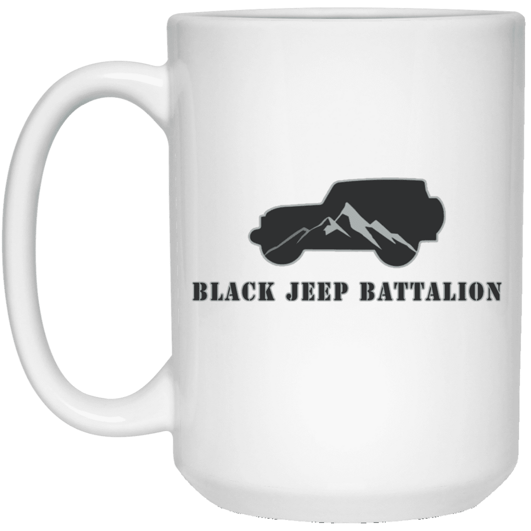 Black Jeep Battalion 21504 15 oz. White Mug
