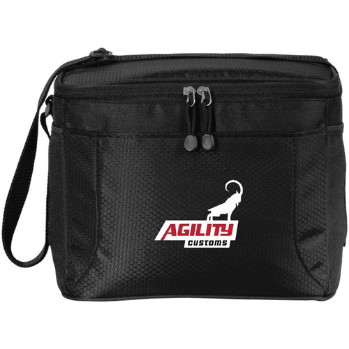 Agility Customs white logo BG513 12-Pack Cooler