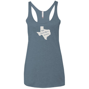 Coastal Bend Crawlers light logo NL6733 Next Level Ladies' Triblend Racerback Tank