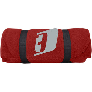 D3 silver embroidered BP10 Port & Co. Fleece Blanket