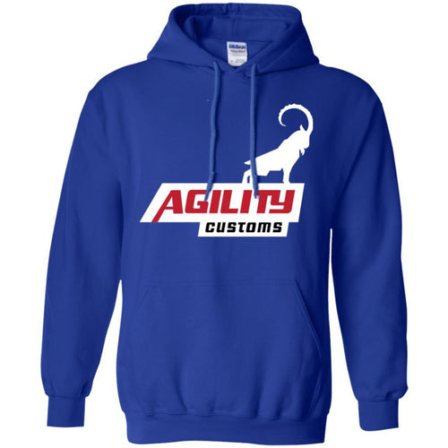 Agility Customs white logo G185 Gildan Pullover Hoodie 8 oz.
