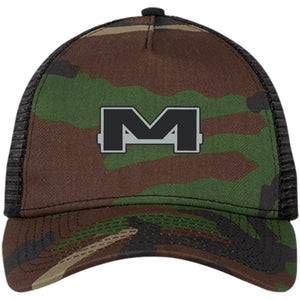 MOAB Motorsports silver embroidered NE205 New Era® Snapback Trucker Cap