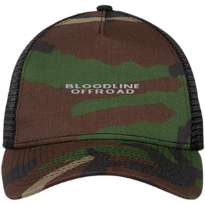 Bloodline Offroad silver embroidered logo NE205 New Era® Snapback Trucker Cap