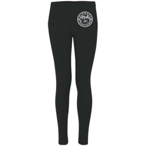 MWJT silver & black embroidered logo S08 Boxercraft Women's Leggings