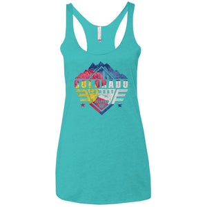 Colorado Combat Jeepers CO Flag NL6733 Next Level Ladies' Triblend Racerback Tank