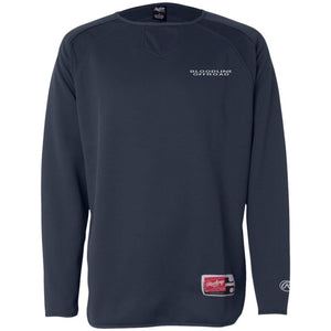 Bloodline Offroad silver embroidered logo 9705 Rawlings® Flatback Mesh Fleece Pullover