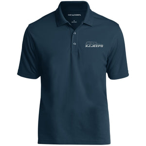 XJ Jeeps silver embroidered logo K110 Port Authority Dry Zone UV Micro-Mesh Polo