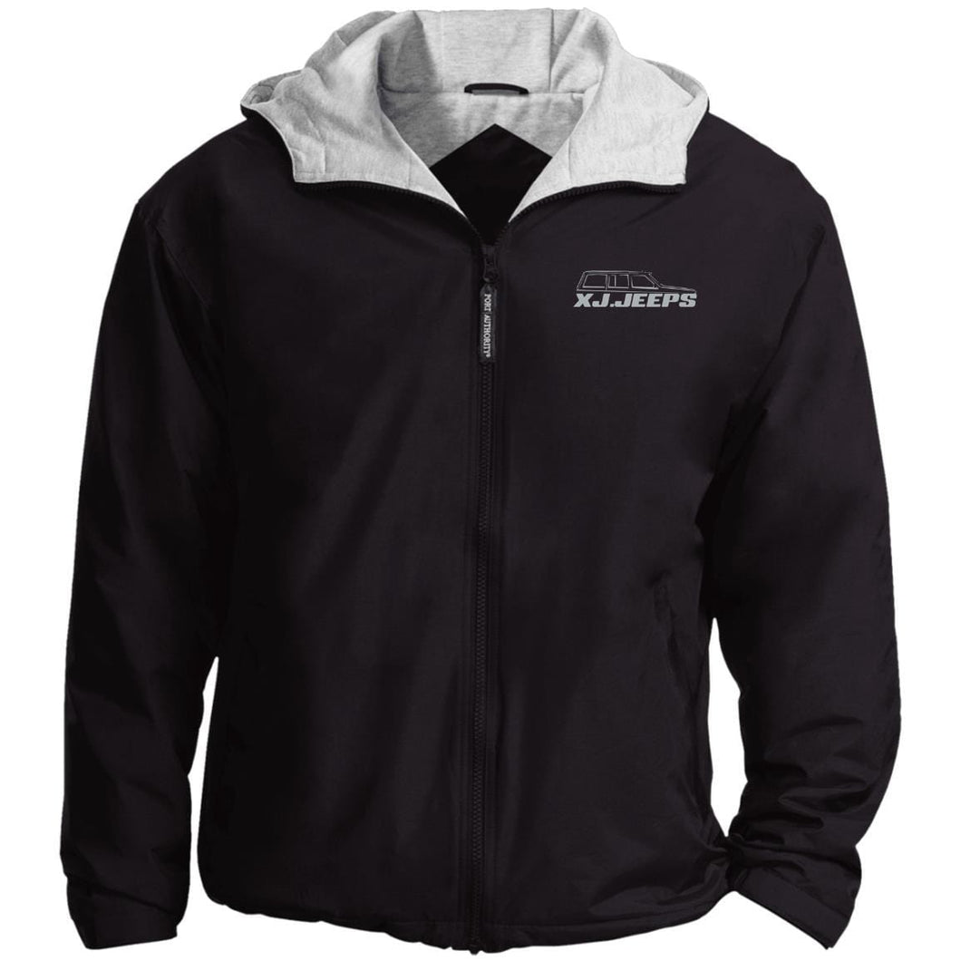 XJ Jeeps silver embroidered logo JP56 Port Authority Team Jacket