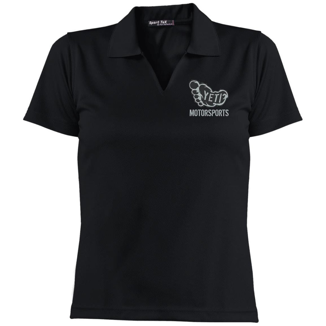 Yeti silver embroidered logo L469 Sport-Tek Ladies' Dri-Mesh Short Sleeve Polo