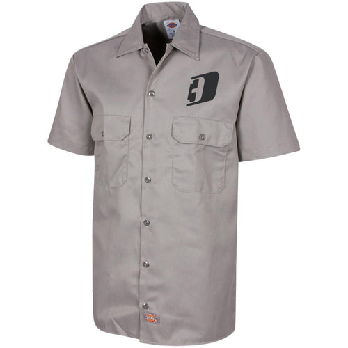 D3 black embroidered 1574 Dickies Men's Short Sleeve Workshirt
