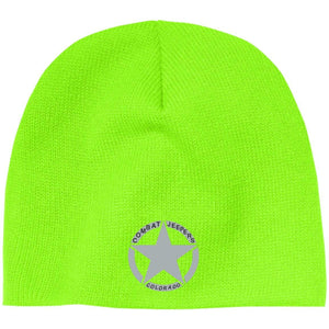 Colorado Combat Jeepers embroidered logo CP91 100% Acrylic Beanie