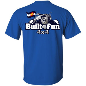 Built4Fun grey 2-sided print G500 Gildan 5.3 oz. T-Shirt