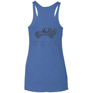 CCJC 2-sided print NL6733 Next Level Ladies' Triblend Racerback Tank