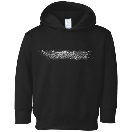 AmericanOffroadCustoms Horizontal white 3326 Toddler Fleece Hoodie
