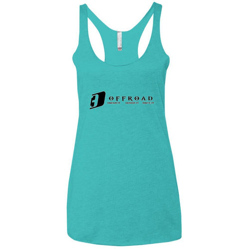 D3 Offroad white border NL6733 Next Level Ladies' Triblend Racerback Tank