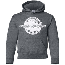 CCVOA white logo G185B Gildan Youth Pullover Hoodie