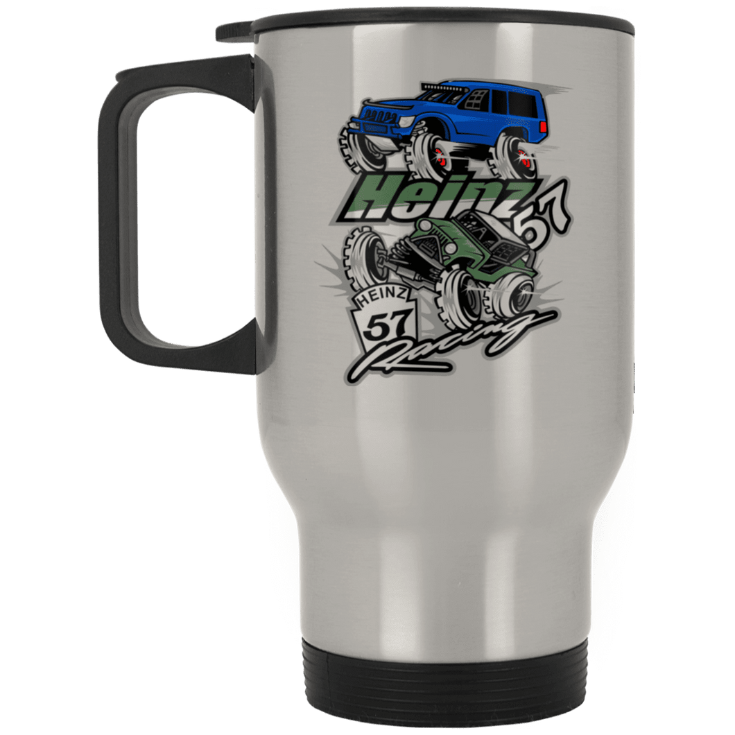H57 Racing XP8400S Silver Stainless Travel Mug