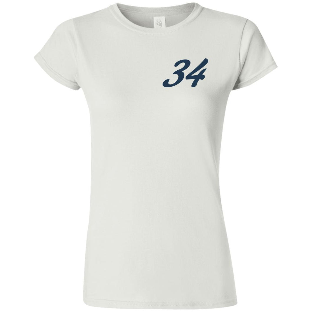 Yeti Motorsports blue logo 2-sided print G640L Gildan Softstyle Ladies' Fitted T-Shirt