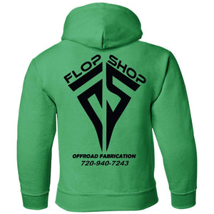 Flop Shop 2-sided print G185B Gildan Youth Pullover Hoodie