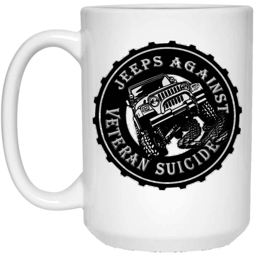Jeeps Against Veteran Suicide 21504 15 oz. White Mug