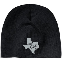 C.B.C. embroidered silver logo CP91 100% Acrylic Beanie