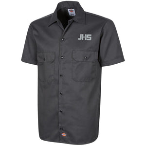 JHS silver embroidered logo 1574 Dickies Men's Short Sleeve Workshirt