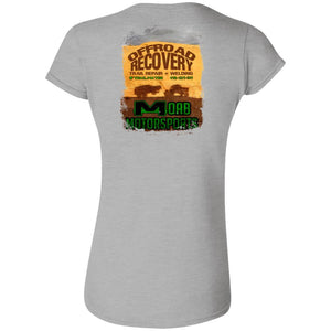 Moab Motorsports 2-sided print w/Trailmater back G640L Gildan Softstyle Ladies' Fitted T-Shirt