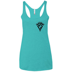 Flop Shop 2-sided print NL6733 Next Level Ladies' Triblend Racerback Tank