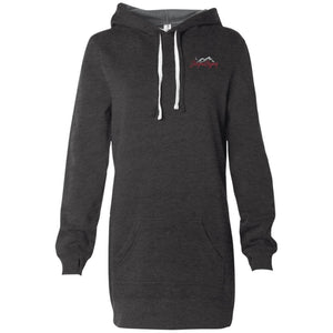 JeepnGypsy silver & red embroidered PRM65DRS Women's Hooded Pullover Dress