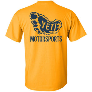 Yeti Motorsports blue logo 2-sided print G500B Gildan Youth 5.3 oz 100% Cotton T-Shirt