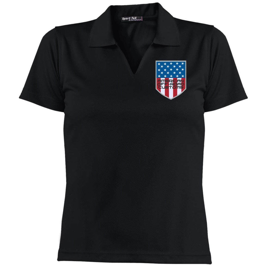 American Off-Road embroidered logo L469 Sport-Tek Ladies' Dri-Mesh Short Sleeve Polo