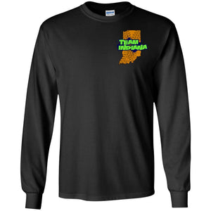 B&BM Team Indiana front 2-sided print G240B Gildan Youth LS T-Shirt
