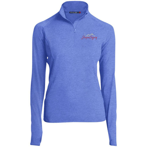 JeepnGypsy silver & red embroidered LST850 Sport-Tek Women's 1/2 Zip Performance Pullover