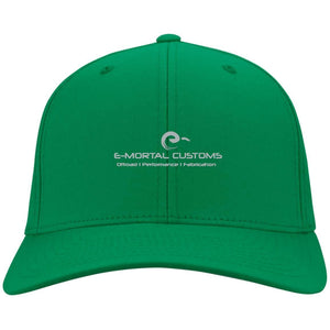 E-Mortal silver embroidered logo Youth YSTC10 Sport-Tek Dri-Fit Nylon Cap