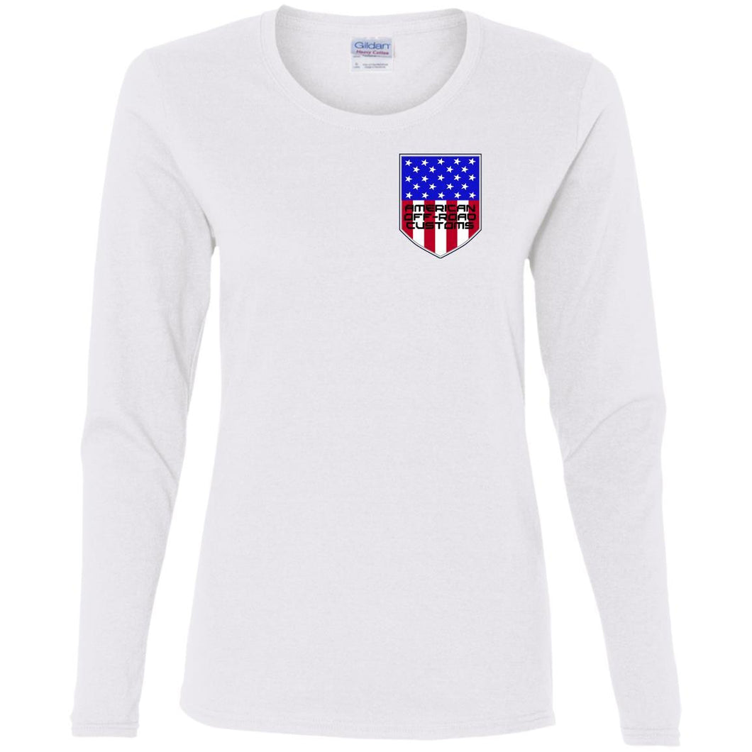 American Off-Road 2-sided print G540L Ladies' Cotton LS T-Shirt