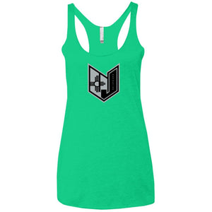 Wicked Jeeps NM Blk & Grey NL6733 Next Level Ladies' Triblend Racerback Tank