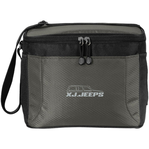XJ Jeeps silver embroidered logo BG513 12-Pack Cooler