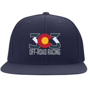 303 Off-road Racing embroidered logo 6297F Fullback Flat Bill Twill Flexfit Cap